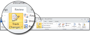 Microsoft Word Track Changes is a function of Microsoft Word